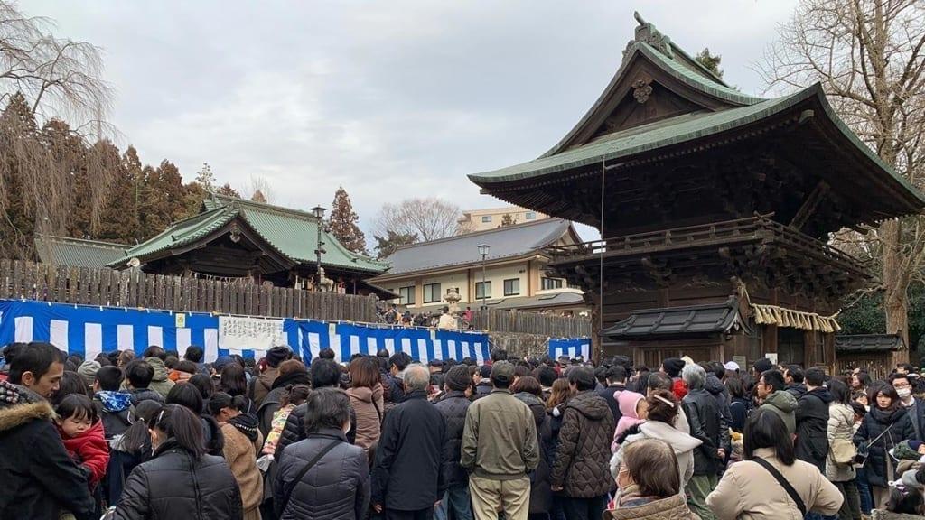 cokoguri - Setsubun Festival at Toshogu Shrine - Gathering Crowds