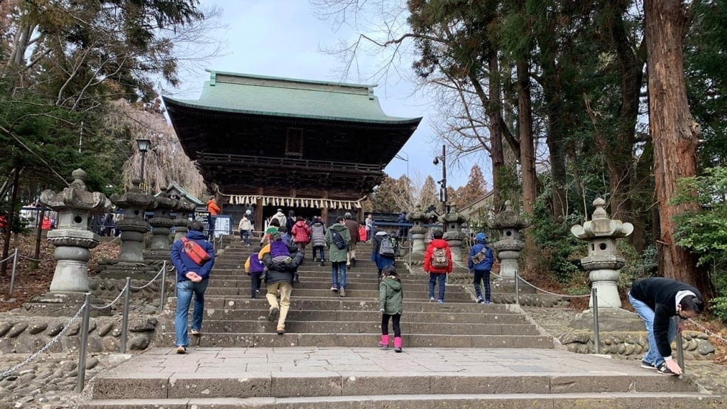 cokoguri - Setsubun Festival at Toshogu Shrine - At the Gate