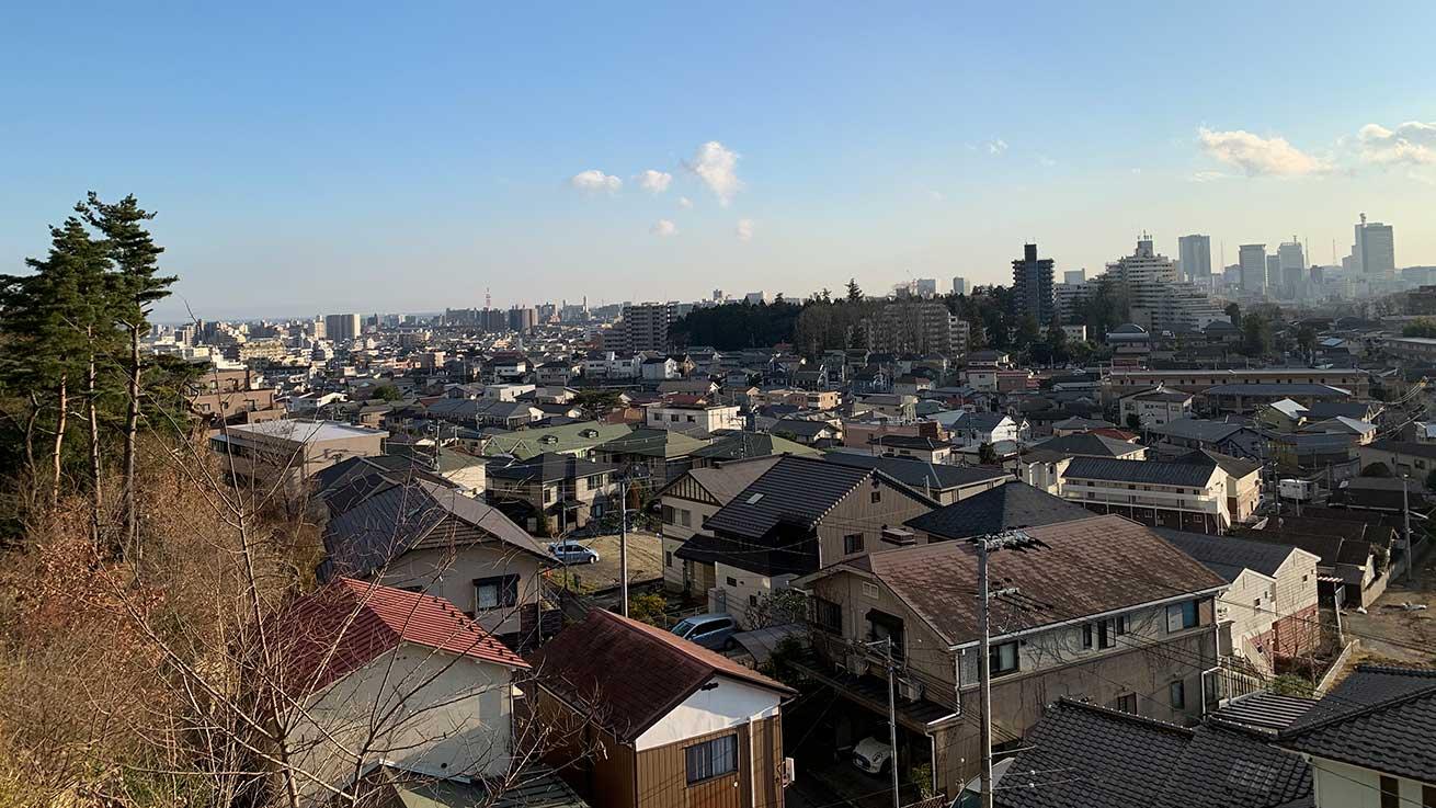 cokoguri - A Territorial View of Sendai to the Coastline