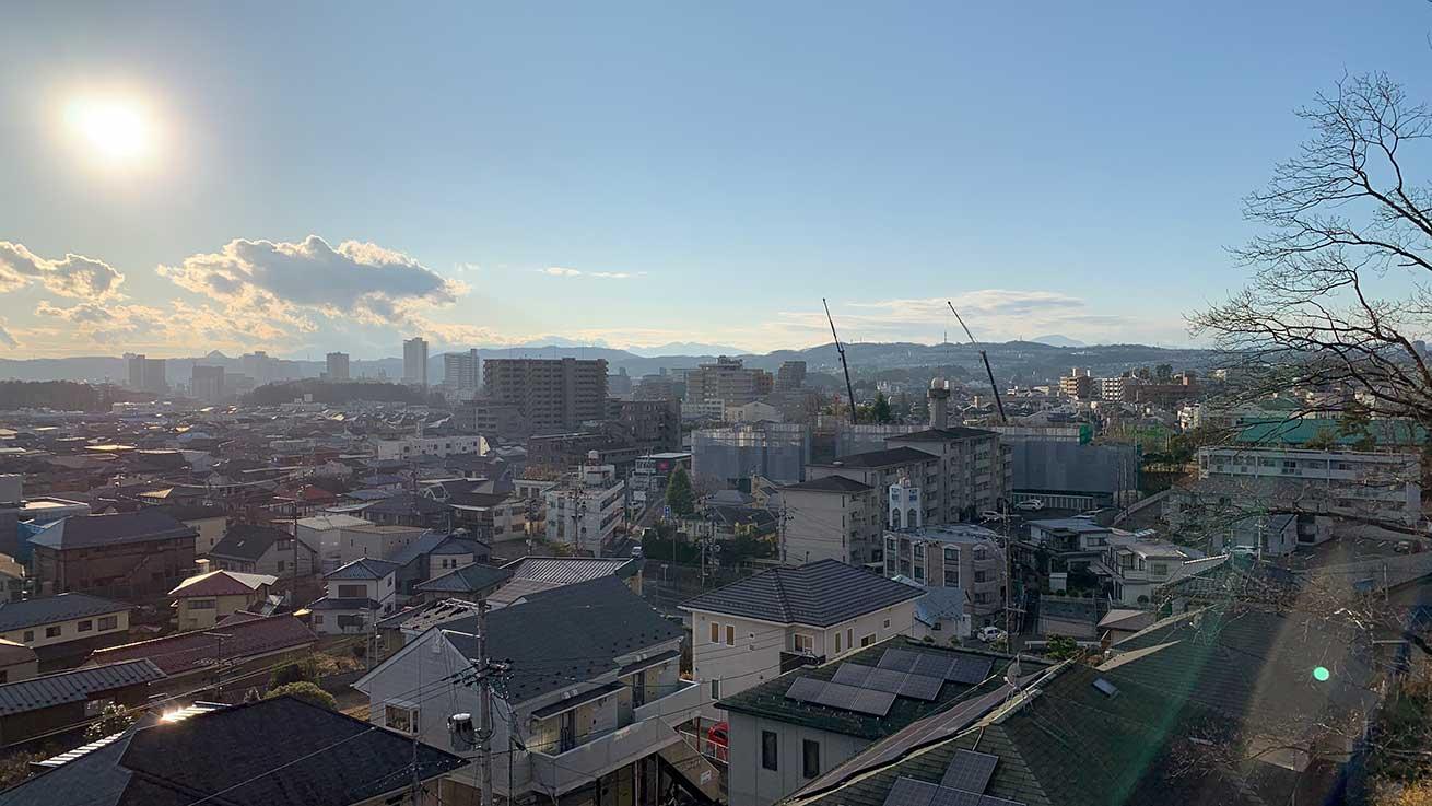 cokoguri - A Territorial View of Sendai to the Mountains