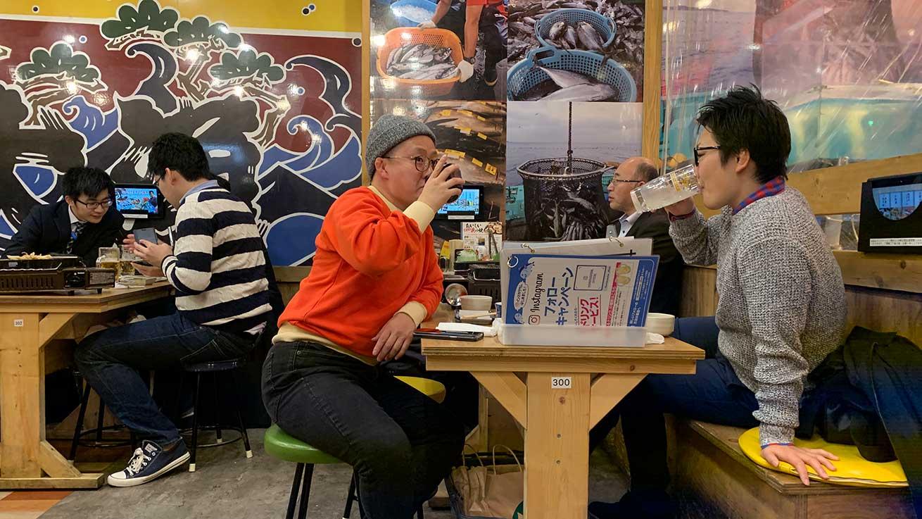 cokoguri - Drinking in a Seafood Izakaya