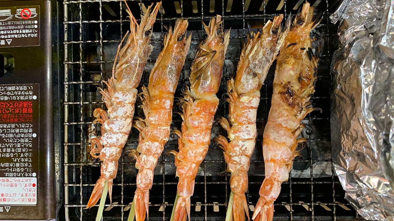 cokoguri - Grilling Shrimp