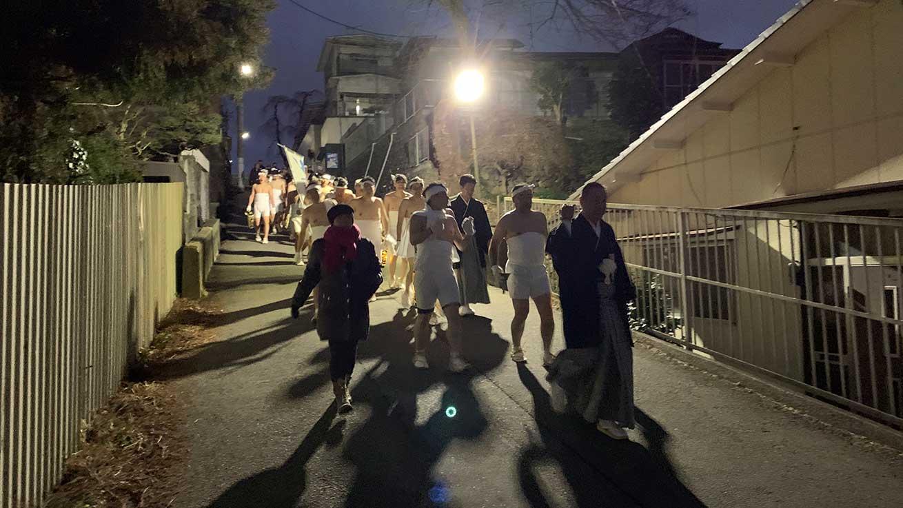 cokoguri - Leaving the Osaki Hachimangu Dontosai Festival