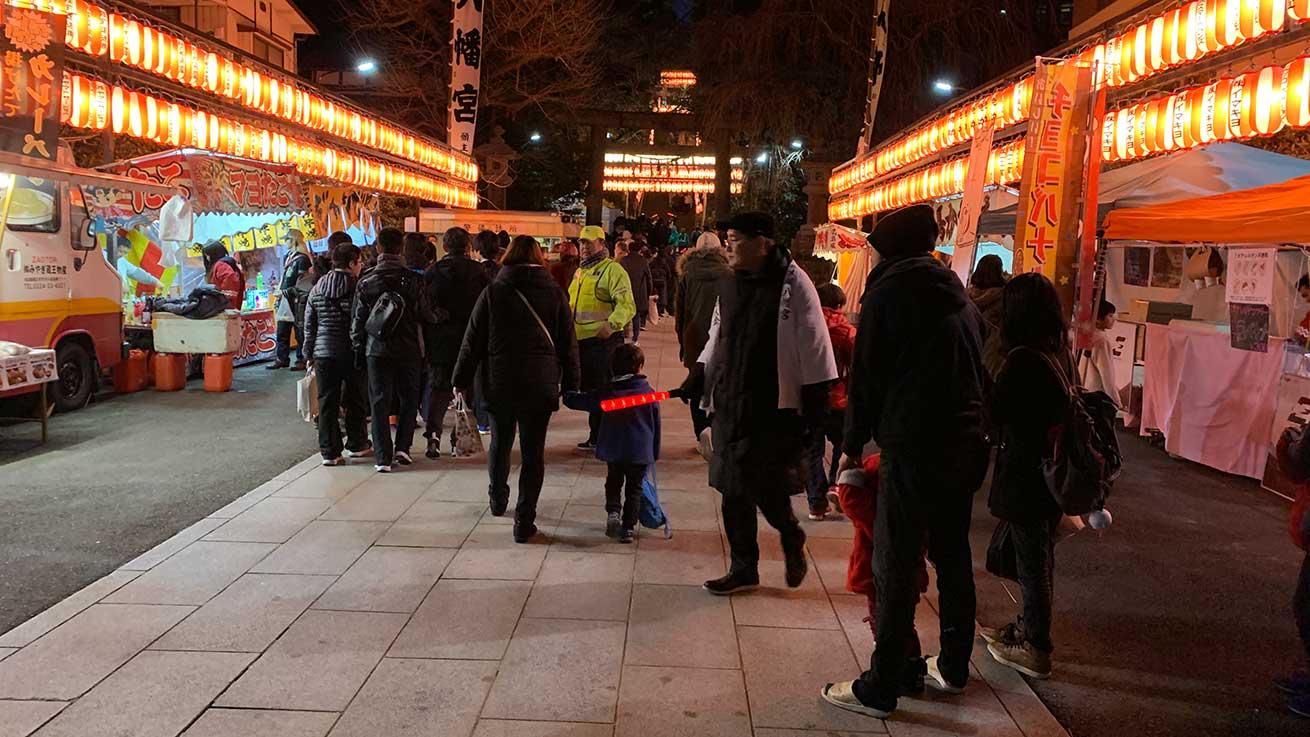 cokoguri - Osaki Hachimangu Dontosai Festival - Main Entrance