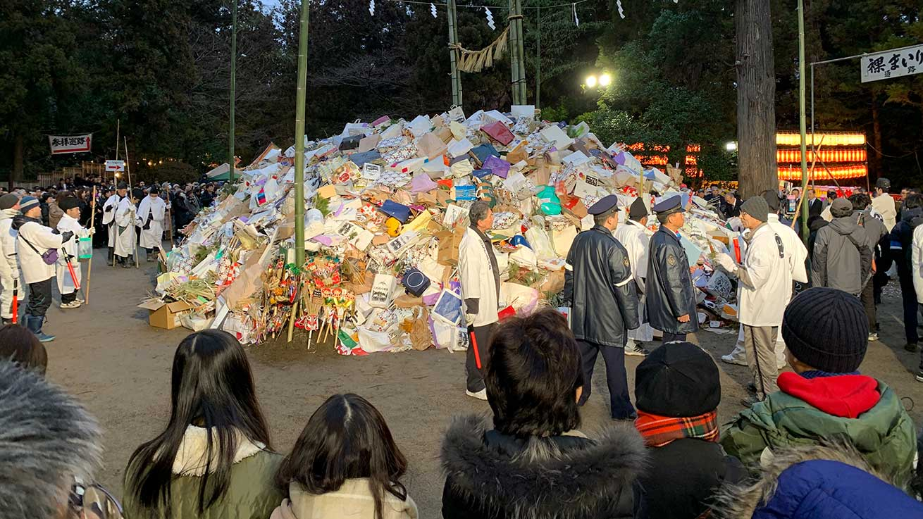 cokoguri - Osaki Hachimangu Dontosai Festival - Pyre
