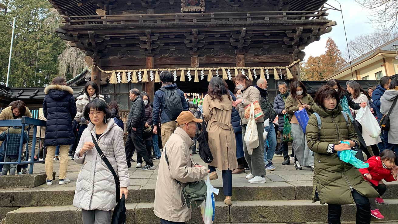 cokoguri - After the Setsubun Bean Throwing Festival at Toshogu Shrine